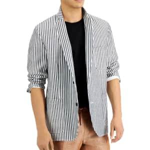 INC Men's Slim-Fit Striped Blazer for $27