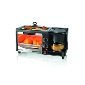 Courant 3-in-1 Multifunction Breakfast Hub (4 Slice Toaster Oven, Large 10'' Diameter Griddle Pan, for $90
