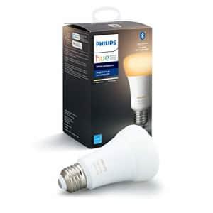 Philips Hue White Ambiance A19 LED Smart Bulb, Bluetooth & Zigbee Compatible (Hue Hub Optional), for $25