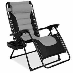 Best Choice Products Oversized Padded Zero Gravity Chair, Folding Outdoor Patio Recliner for for $100