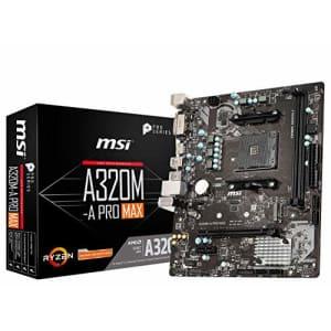 MSI ProSeries AMD A320 1st, 2nd, 3rd Gen Ryzen Compliant AM4 DDR4 HDMI DVI M.2 USB 3 Micro-ATX for $66