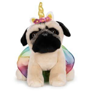 "Gund Doug the Pug Unicorn Tutu 9"" Stuffed Animal Plush for $11"