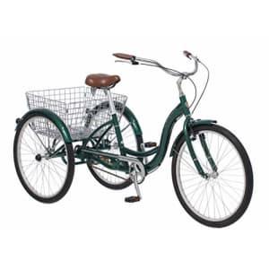 Schwinn Meridian Adult Trike, Three Wheel Cruiser Bike, 1-Speed, 26-Inch Wheels, Cargo Basket, Green for $825