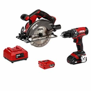 SKIL 20V 2-Tool Combo Kit: 20V Cordless Drill Driver and Circular Saw, Includes 2.0Ah PWR CORE 20 for $140