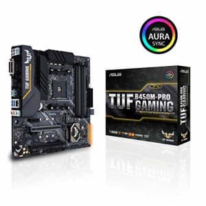 Asus TUF B450M-Pro Gaming AMD Ryzen 3 AM4 DDR4, HDMI, Dual M.2, USB 3.1 Gen 2 and Aura Sync RGB LED for $147