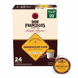 Don Francisco's Hawaiian Hazelnut Flavored (24 Count) Recyclable Single-Serve Coffee Pods, for $13