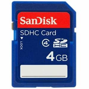 4GB SDHC (Secure Digital HC) Card Sandisk SDSDB-4096 (BUB-S) for $14
