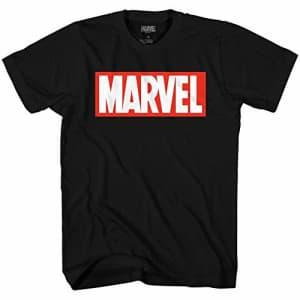 Marvel Men's Comics Simple Classic Logo T-Shirt, Black, Large for $16