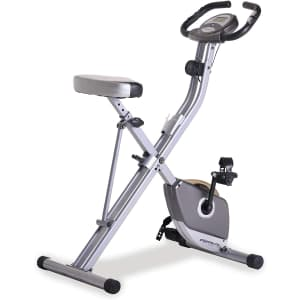 Exerpeutic Folding Magnetic Upright Exercise Bike for $134