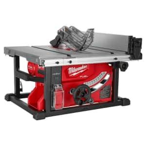 "Milwaukee M18 Fuel 18V Li-ion 8-1/4"" Cordless Table Saw (No Battery) for $382"