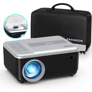 Fangor Portable Projector w/ Built-In DVD Player for $150