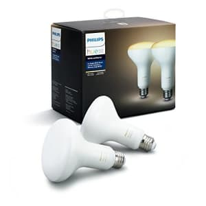 Philips Hue White Ambiance BR30 2-Pack 60W Equivalent Dimmable LED Smart Flood Light (Hue Hub for $50
