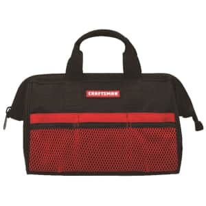 """Craftsman 6-Pocket 13"""" Wide Mouth Tool Bag for $3.99 in cart for members"""