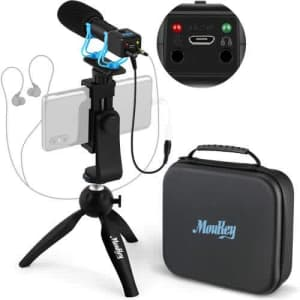 Moukey Smartphone Camera Video Microphone Kit for $20