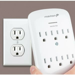 Fosmon 6-Outlet Surge Protector for $11