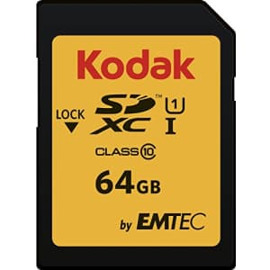 Kodak 32GB Class 10 UHS-I U1 SDHC Memory Card for $8
