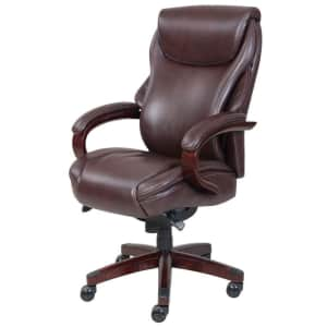 La-Z-Boy Hyland ComfortCore Traditions AIR Technology Bonded Leather Executive Office Chair for $386