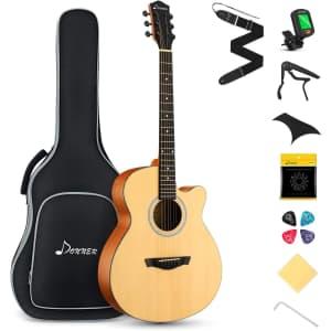 Donner Acoustic Guitar Starter Kit for $155