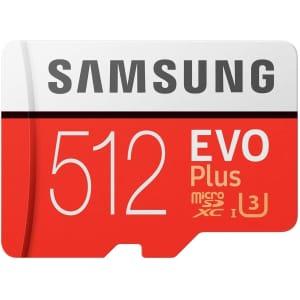 Samsung EVO Plus 512GB microSD Card w/ Adapter for $81