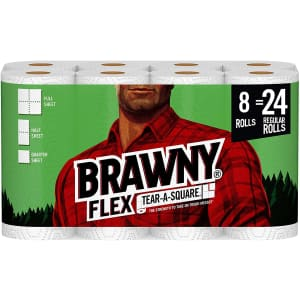 Brawny Flex Paper Towels Triple Roll 8-Pack for $20