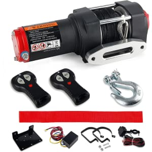 VZCY 3,000-Lbs. 12-Volt Electric Rope Winch Kit for $90
