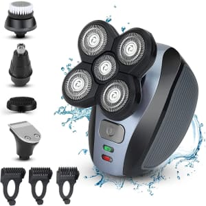 Bud K Men's Cordless 5D Electric Wet/Dry Shaver for $25