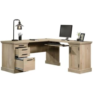 "Sauder Aspen Post 67"" L-Shaped Desk for $653"