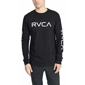 RVCA Men's Big Long Sleeve Crew Neck T-Shirt, DEEP Purple, L for $29