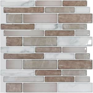 Art3D Peel and Stick Adhesive Wall Tile 10-Pack for $28