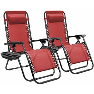 Homall Zero Gravity Chair Patio Folding Lawn Lounge Chairs Outdoor Lounge Gravity Chair Camp for $100