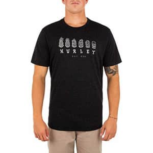 Hurley Men's Everyday Regrind Changling Short Sleeve T-Shirt, Black, Small for $28