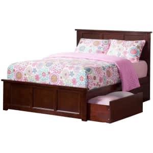 Atlantic Furniture Madison Matching Footboard Solid Hardwood Full Storage Bed w/ USB for $465