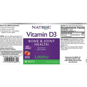Natrol Vitamin D3 2,000 IU Tablets, Strawberry, 90 Count for $12
