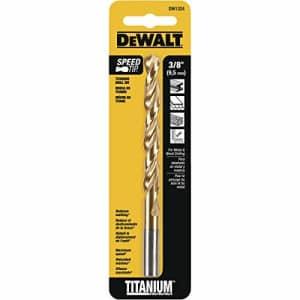 DEWALT DW1324 3/8-Inch Titanium Split Point Twist Drill Bit for $12