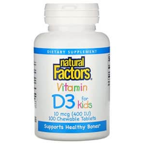 Natural Factors, Vitamin D3 400 IU, Supports Strong Bones, Teeth and Immune Function, 100 tablets for $11