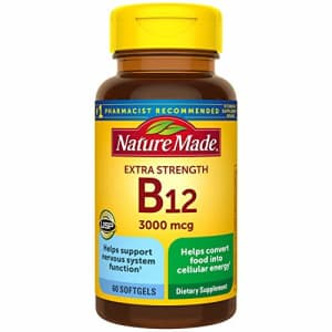 Nature Made Extra Strength Vitamin B12 3000 mcg Softgels, 60 Count (Packaging May Vary) for $11