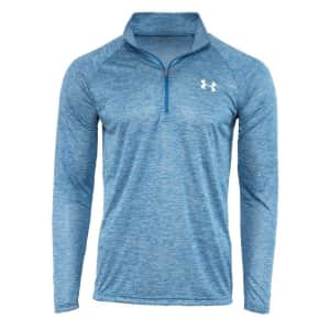 Under Armour Men's UA Tech Space Dye 1/2 Zip Pullover for $17