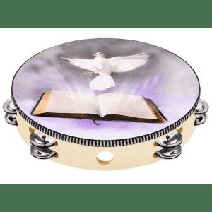"Eastar 10"" Dove Bible Tambourine for $10"