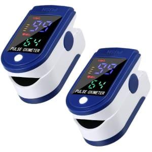 Kexle Fingertip Pulse Oximeter 2-Pack for $13