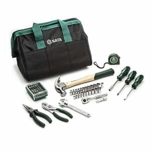 SATA 62-Piece General Purpose SAE and Metric Mechanics Tool Set for Repair and DIY Projects with for $42