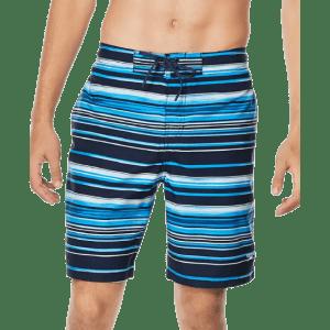 "Speedo Men's Stripe Lane Bondi 2-Way Stretch DWR 20"" Board Shorts for $12"