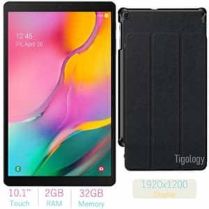 2019 Samsung Galaxy Tab A 10.1-inch Touchscreen (1920x1200) Wi-Fi Tablet Bundle, Exynos 7904A for $250