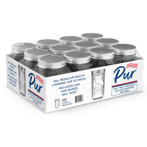 Pur Regular Mouth 8-oz. Mason Jar 12-Pack for $9.99 for members