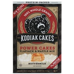 Kodiak Cakes Power Cakes Flapjack & Waffle Mix 72-Oz. Box for $12