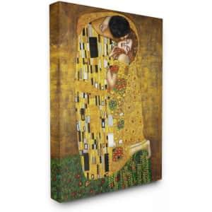 "Stupell Industries Gustav Klimt ""The Kiss"" 48"" x 36"" Canvas Wall Art for $78"