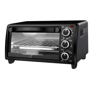 Black + Decker 4-Slice Toaster Oven for $24