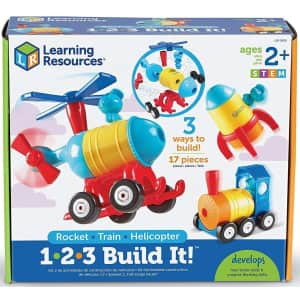 Learning Resources 1-2-3 Build It! Rocket-Train-Helicopter for $15