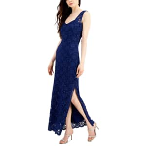 Connected Women's Sequin Lace Gown for $54