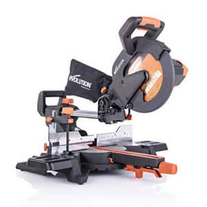 """Evolution Power Tools R255SMS+ 10"""" Multi-Material Compound Sliding Miter Saw Plus for $316"""
