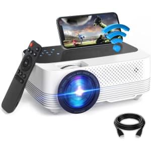VT Tele CA 480p WiFi Mini Projector for $60